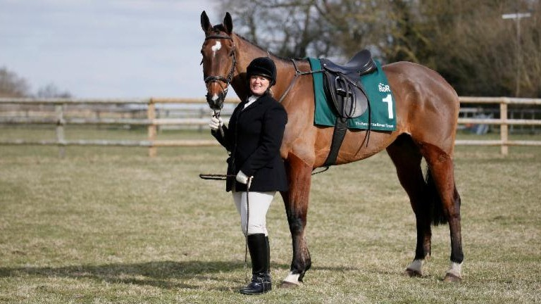 Sarah Henderson with retired festival winner Hunt Ball