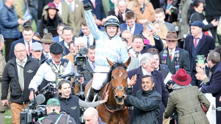 Summerville Boy: Noel Fehily returning to the paddock with arm aloft