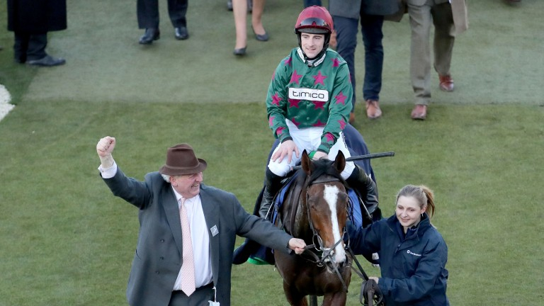 Mister Whitaker: returning to the winner's enclosure under Brian Hughes