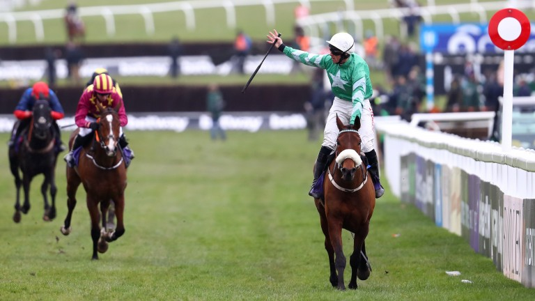 Davy Russell and Presenting Percy land the RSA Chase