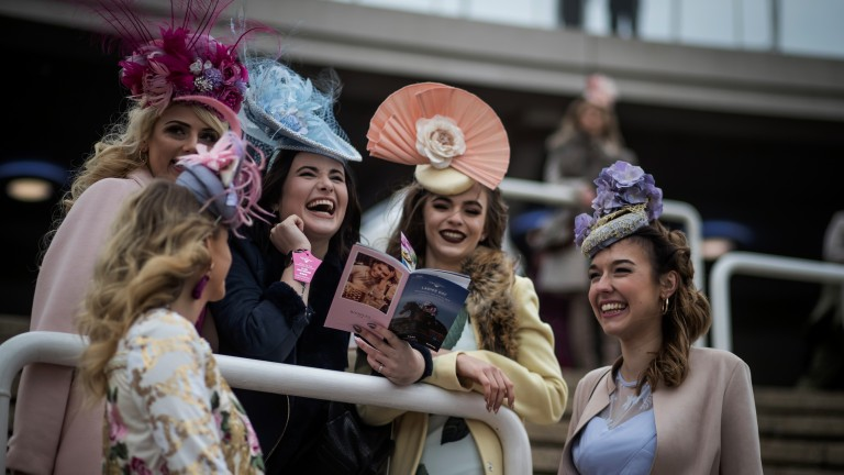 Dressed to impress: fashion and style were on show on ladies' day