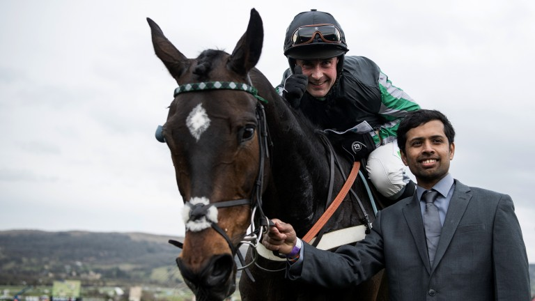 Altior delighted jockey Nico de Boinville and groom Dastagir Hussain Mohammed by winning the Champion Chase, having shrugged off the so-called 'February curse'
