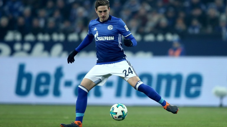 Bastian Oczipka of Schalke runs with the ball