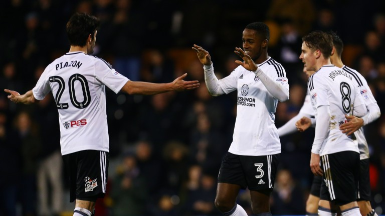 Fulham celebrate one of Ryan Sessegnon's goals in January's 6-0 home win over Burton