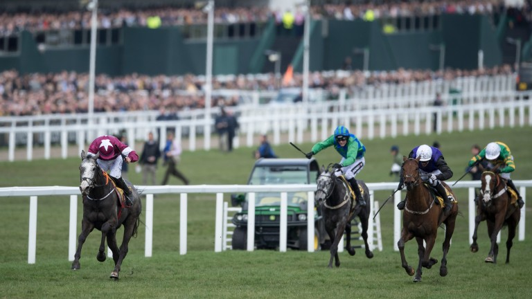 Farclas (left); bidding to become the first horse since Katarino in 1999 to complete the Cheltenham-Punchestown double