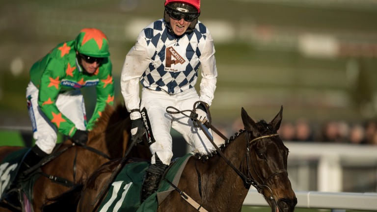 Patrick Mullins secures another festival win, steering Rathvinden to victory in the National Hunt Chase