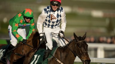 Patrick Mullins after steering Rathvinden to victory in the National Hunt Chase, for which he received a whip ban
