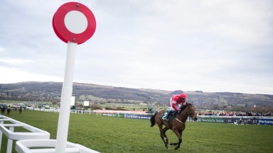 Laurina and Paul Townend cruise home unopposed in the Dawn Run Mares' Novices' Hurdle