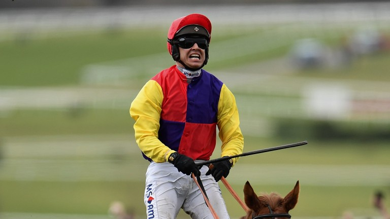 Raw emotion: Richard Johnson is ecstatic after landing his second Gold Cup aboard Native River