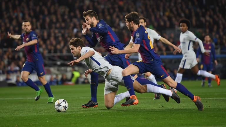 Chelsea were unlucky to lose to Barcelona in the Champions League in midweek