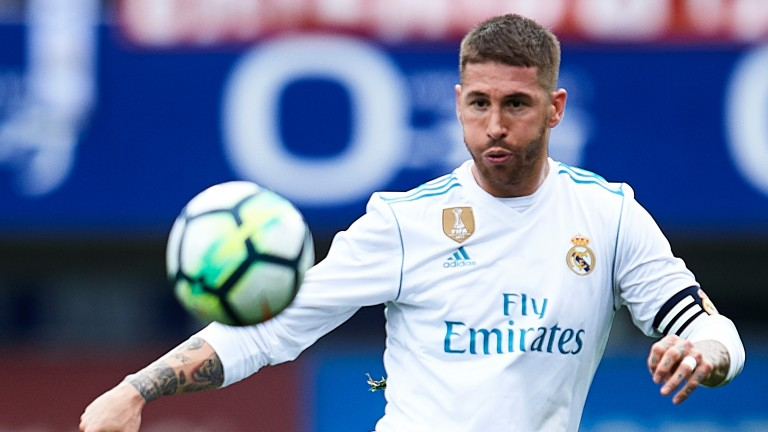 Sergio Ramos of Real Madrid in action