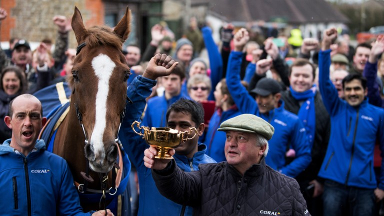 Colin Tizzard: has enjoyed Gold Cup success and has a talented team of chasers for this season's renewal