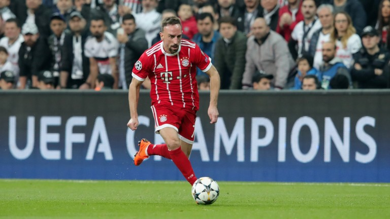 Franck Ribery  of Bayern Muenchen in Champions League action