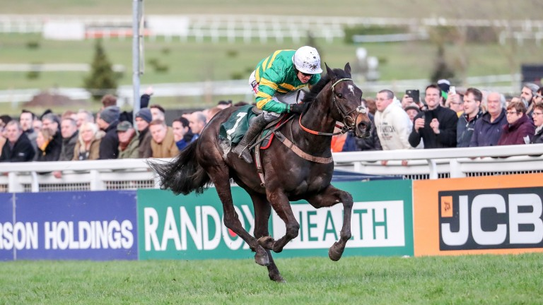 Barry Geraghty and Le Prezien en route to landing the Grand Annual Chase