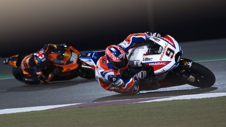Danilo Petrucci will start on the front row in Losail
