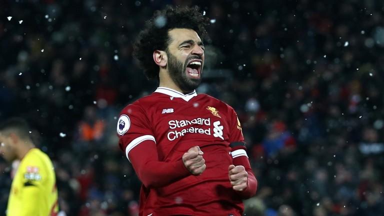 Mohamed Salah scored four goals for Liverpool against Watford