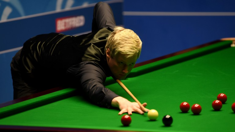 Neil Robertson in action at the Crucible