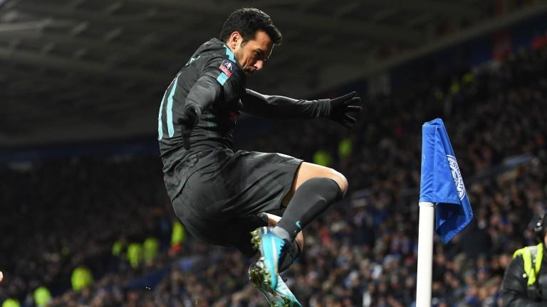 Pedro celebrates his winner for Chelsea