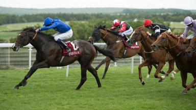 Toormore (James Doyle) wins the Group 2 Qatar Lennox Stakes at Goodwood in 2015 Pic: Edward Whitaker