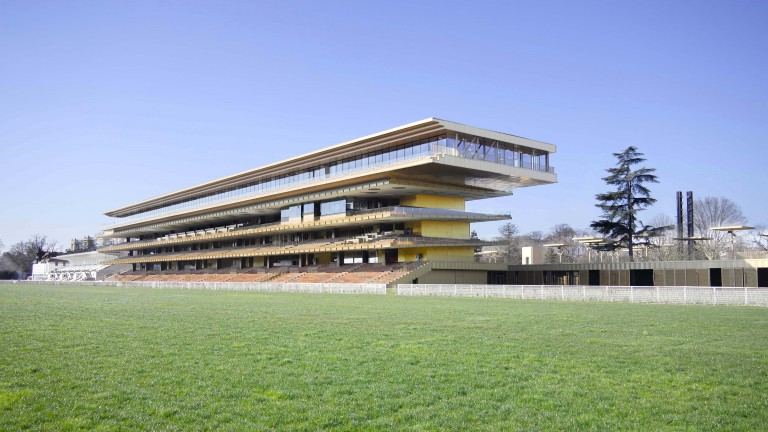 The Longchamp grandstand, the centrepiece of the redevelopment