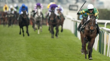 Aintree 10.4.10 Pic:Edward WhitakerTony mcCoy wins the Grand National on Don't Push It