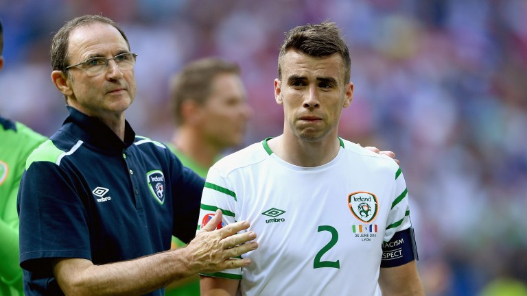 Martin O'Neill (left) and Seamus Coleman