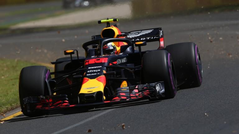 Max Verstappen pilots his Red Bull around the Albert Park circuit