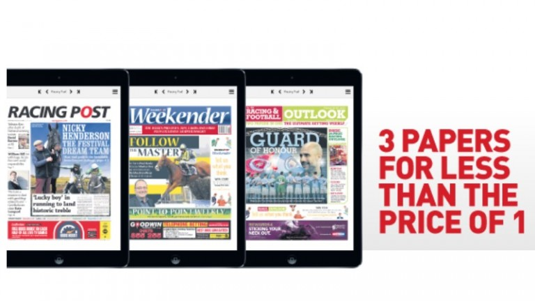 Enjoy the Racing Post Weekender and Racing & Football Outlook as well as the daily newspaper as part of your Members' Club Ultimate subscription.