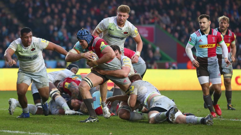 Harlequins overcame Saracens at the Stoop in December
