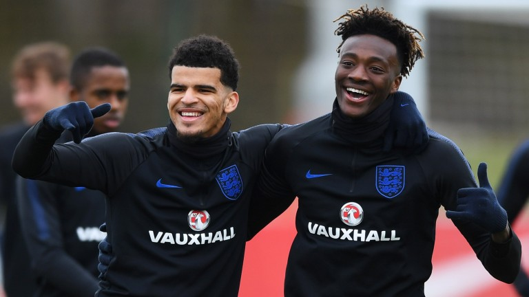 Dominic Solanke and Tammy Abraham could enjoy themselves against Romania