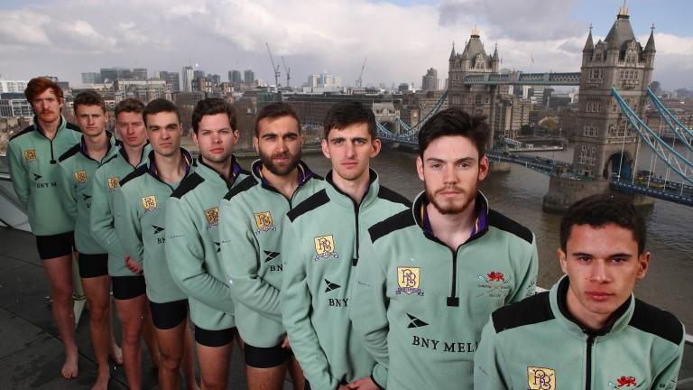 The Cambridge University men's crew