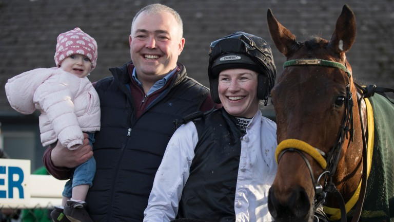 Young Ted with Nina Carberry, husband Ted Walsh jnr and their daughter Rosie