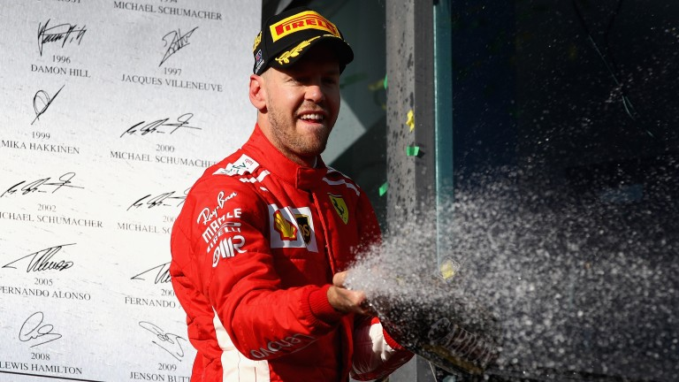 Sebastian Vettel triumphed in the first race of the season