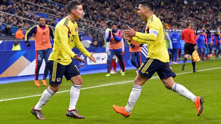 Radamel Falcao and James Rodriguez
