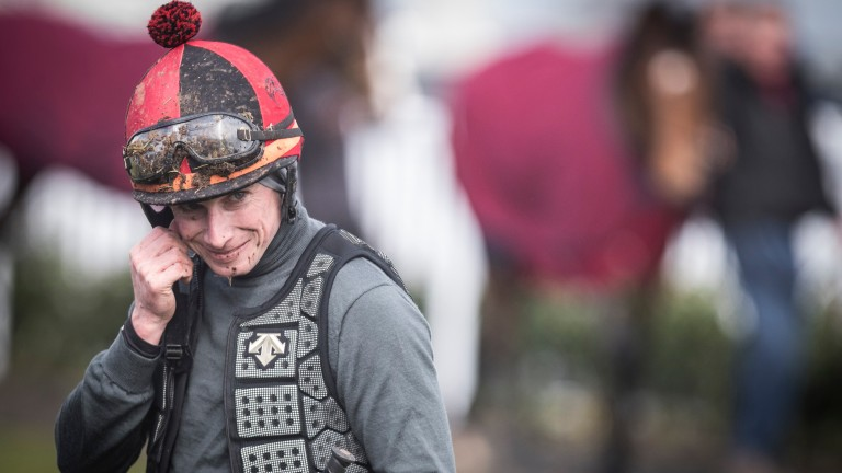 Something brings a smile to Ryan Moore's face