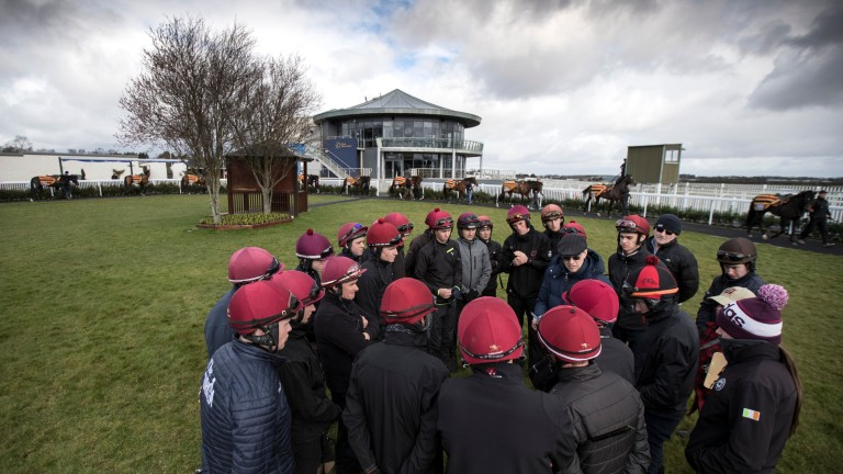 Aidan O'Brien issues instructions to his team of riders
