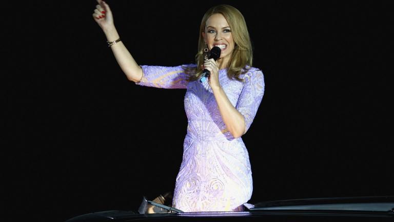 Kylie Minogue performing at Meydan in 2015