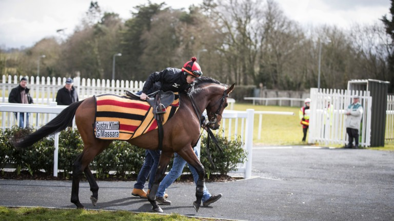 All aboard: Ryan Moore gets the leg-up on Gustav Klimt