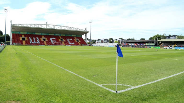 Woking fans are hoping for an upset at Kingfield Stadium