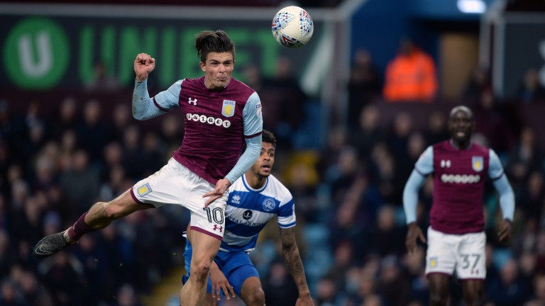 Aston Villa attacking midfielder Jack Grealish
