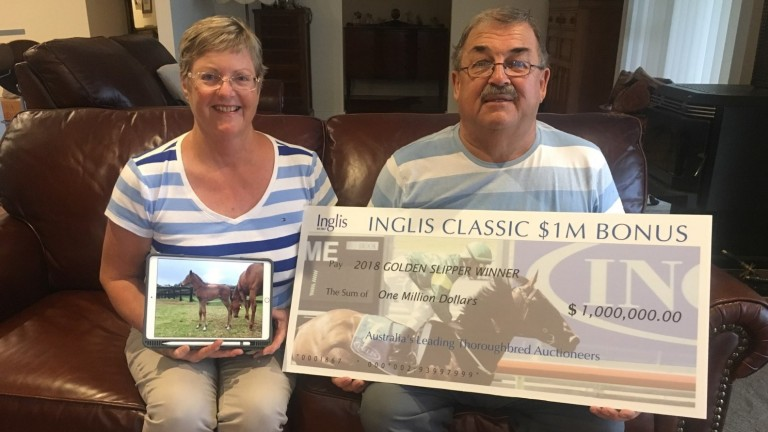 Mike and Deb O'Donnell of Fairhill Farm, who bred Widden Stakes scorer Fiesta