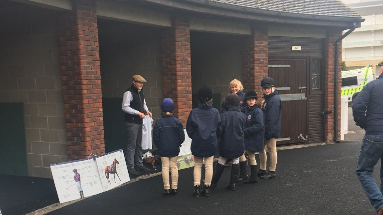 Pony Club members learn the pony racing ropes at Cheltenham