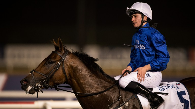 Marvellous Murphy: Benbatl and Oisin Murphy after winning the Dubai Turf
