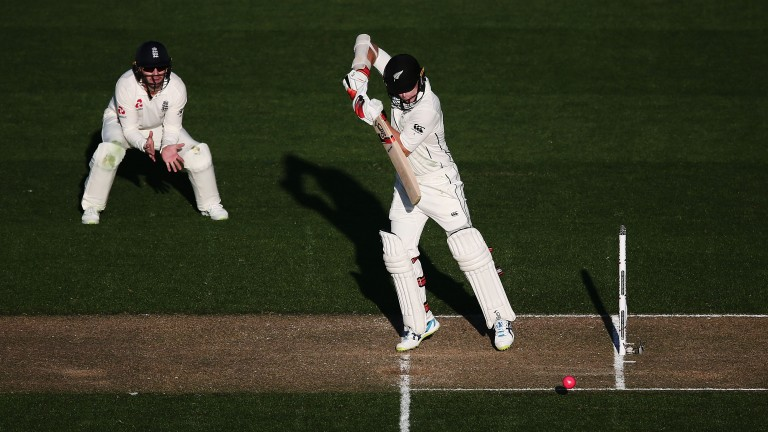 Tom Latham will be aiming to dig in and frustrate England's bowlers