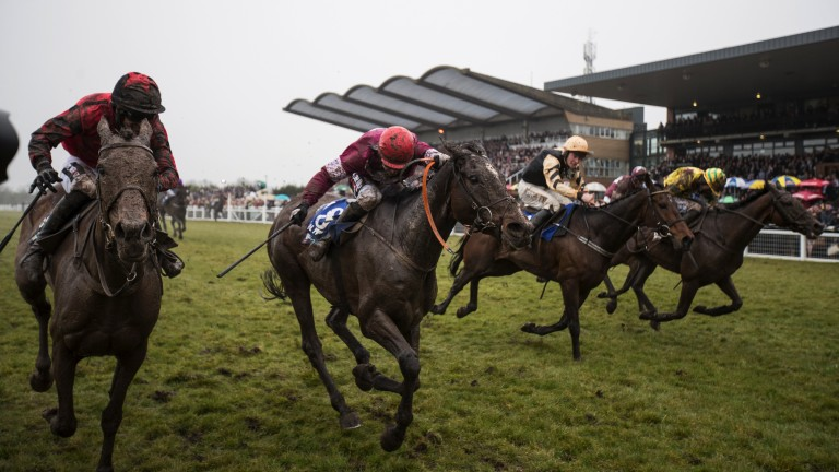 Bellshill (biege sleeves): went close in the Irish Grand National