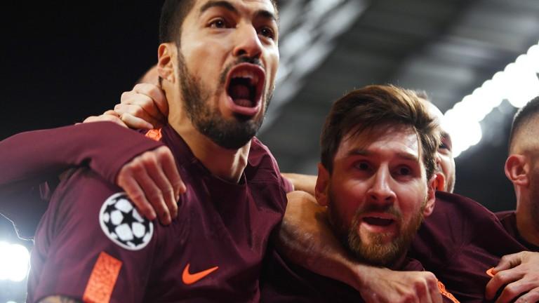 Barcelona's prolific pair Luis Suarez (left) and Lionel Messi
