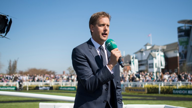 Ed Chamberlin: ITV Racing's anchorman was pleased with the channel's performance at Aintree