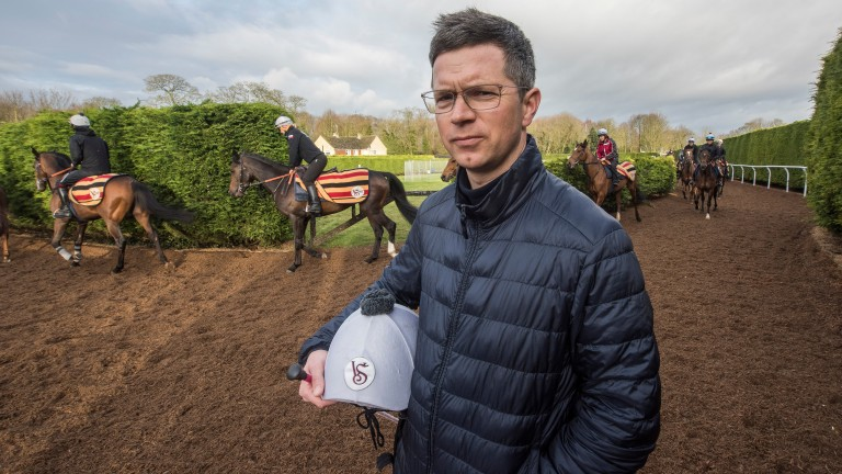 Roger Varian runs Narella for the first time in the Coral Distaff