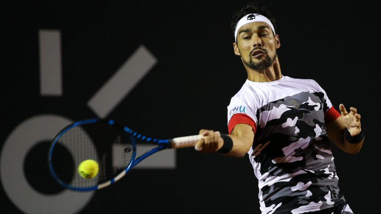 Fabio Fognini is capable of troubling the best players on clay