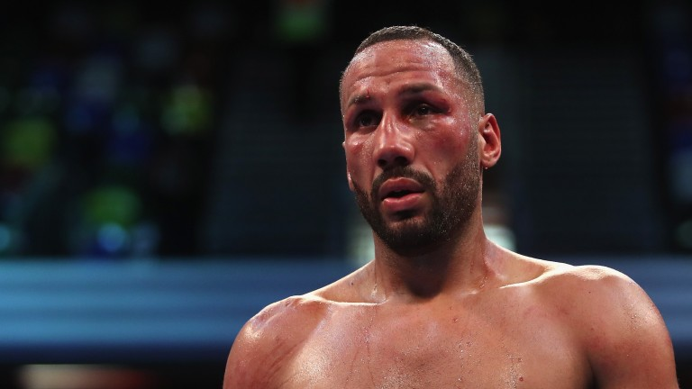 James DeGale looks dejected as he loses to Caleb Truax